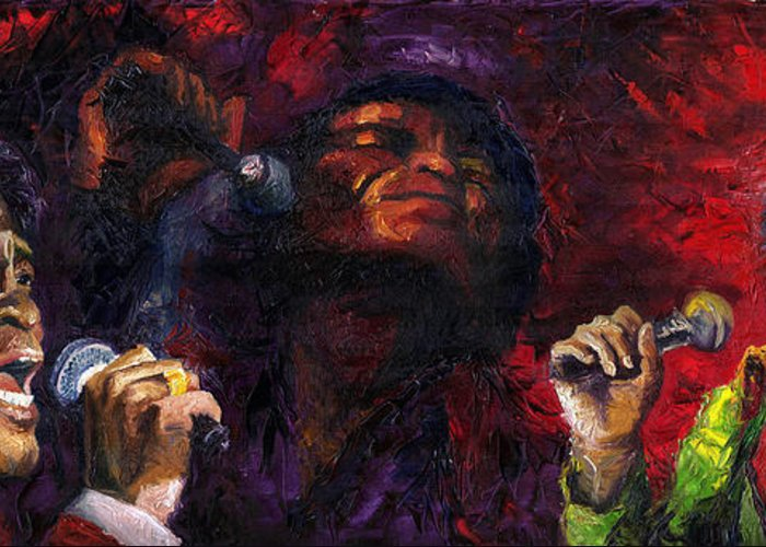 Jazz Greeting Card featuring the painting Jazz James Brown by Yuriy Shevchuk