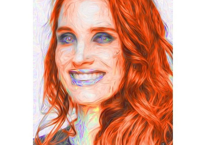 Model Greeting Card featuring the photograph @jessicachastaindaily #jessicachastain by David Haskett II