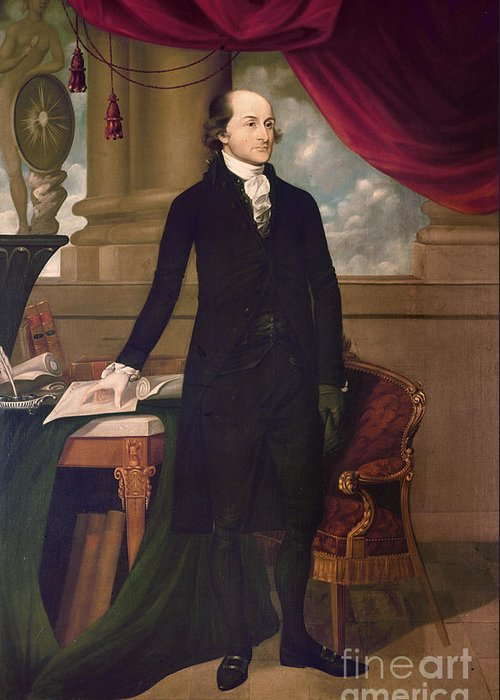 1782 Greeting Card featuring the photograph John Jay (1745-1829) by Granger