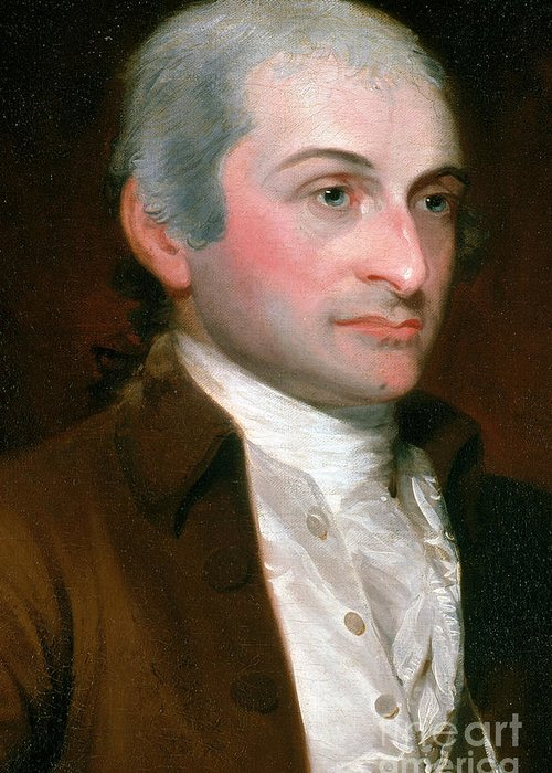History Greeting Card featuring the photograph John Jay, American Founding Father by Photo Researchers