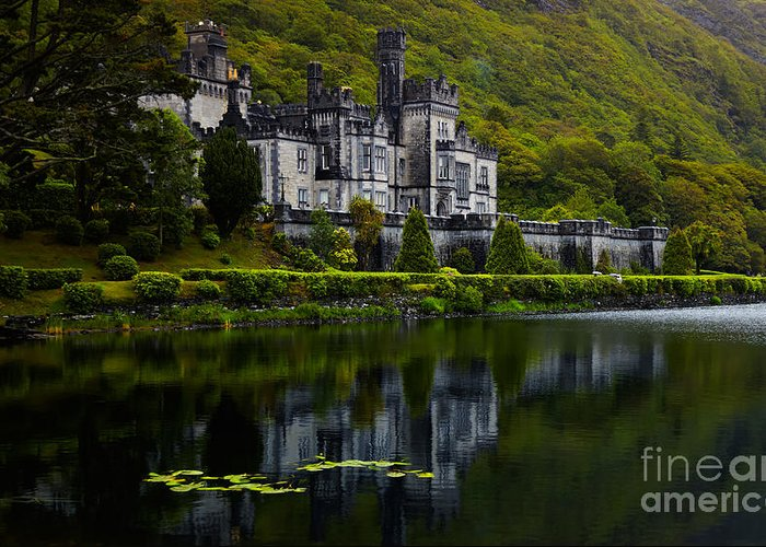 Ireland Greeting Card featuring the photograph Kylemore Abbey by Gabriela Insuratelu
