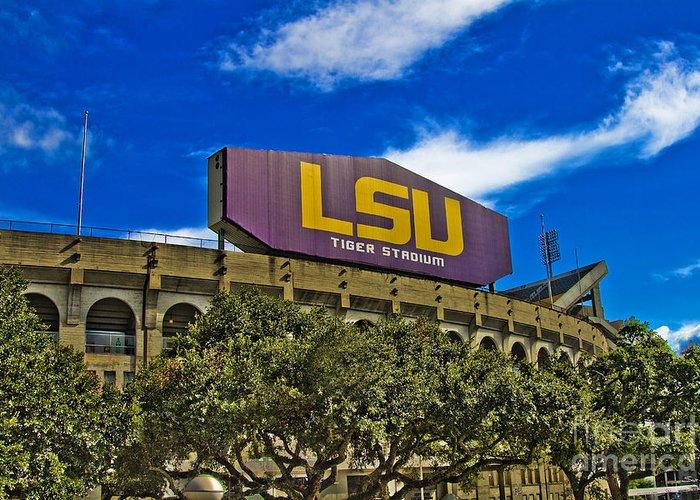 Lsu Greeting Card featuring the photograph Lsu Tiger Stadium by Scott Pellegrin