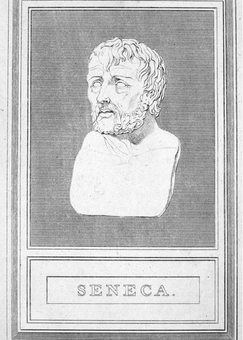 1st Century Greeting Card featuring the photograph Lucius Annaeus Seneca by Granger