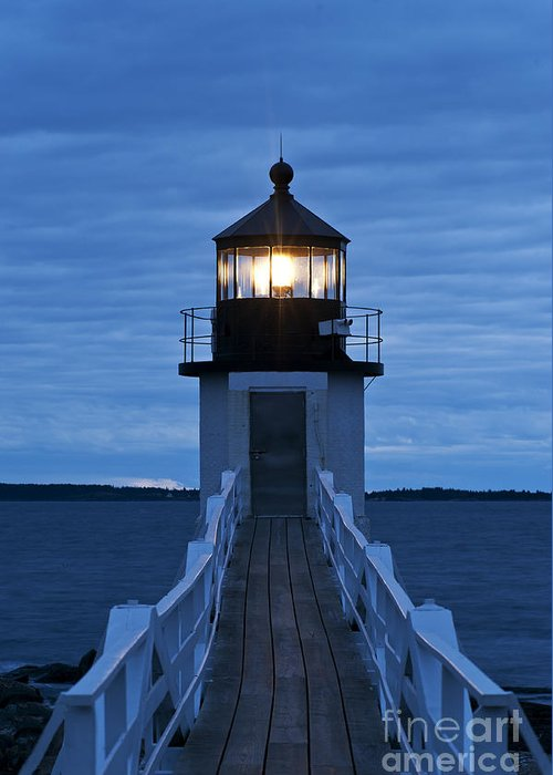 Maine Greeting Card featuring the photograph Marshall Point Light by John Greim