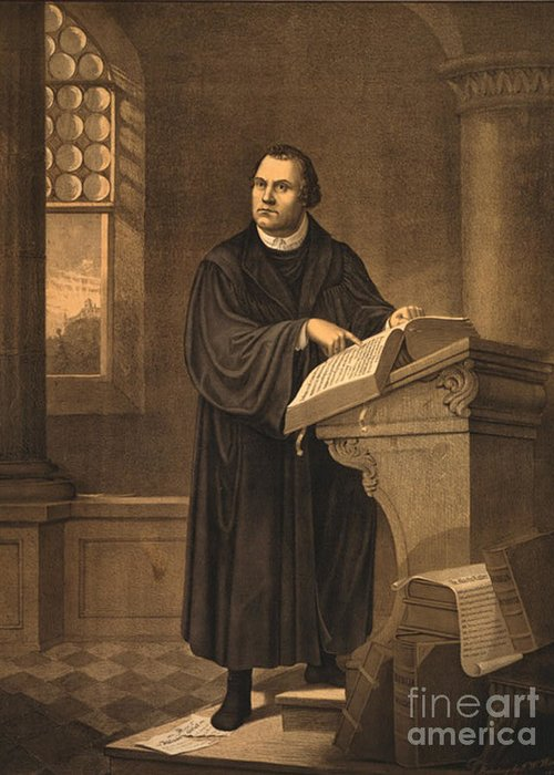 History Greeting Card featuring the photograph Martin Luther, German Theologian by Photo Researchers