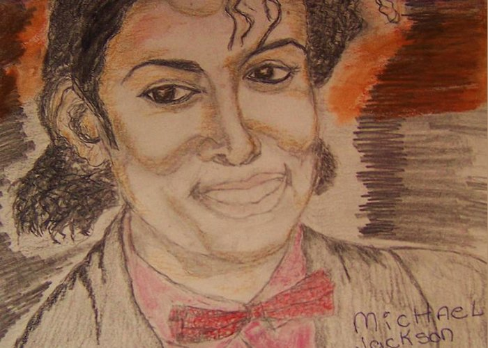 Michael Jackson Greeting Card featuring the greeting card Michael by Beverly Howell