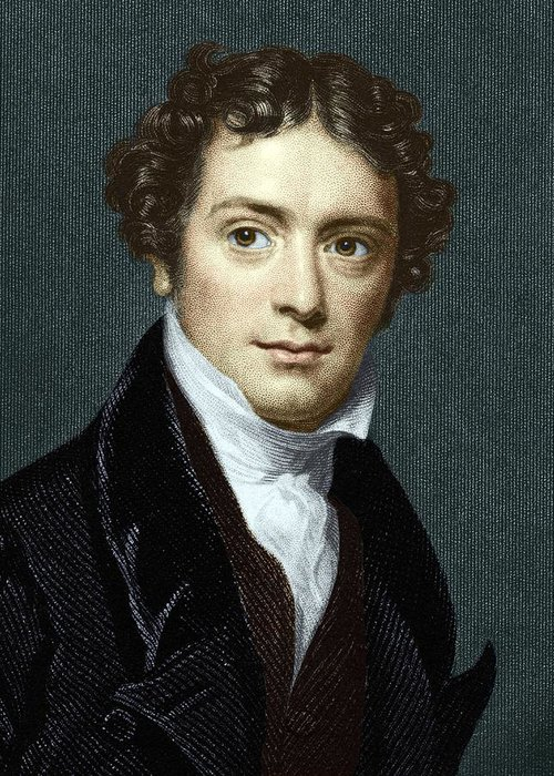 Michael Faraday Greeting Card featuring the photograph Michael Faraday, British Physicist by Sheila Terry