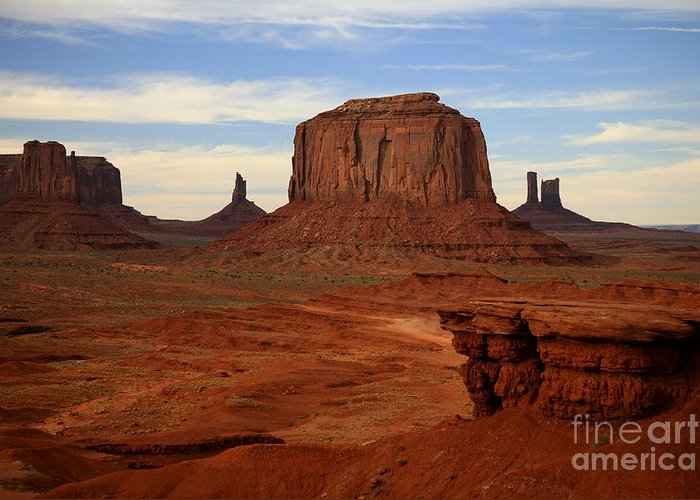 Monument Valley Greeting Card featuring the photograph Monument Valley by Timothy Johnson