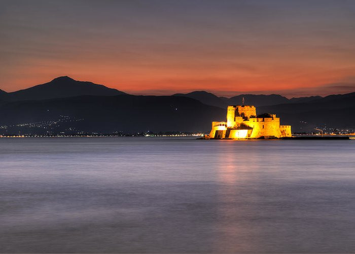Ancient Greeting Card featuring the photograph Nafplio - Greece by Constantinos Iliopoulos