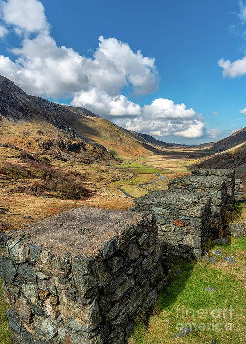Nant Ffrancon Greeting Card featuring the photograph Nant Ffrancon Pass Snowdonia by Adrian Evans