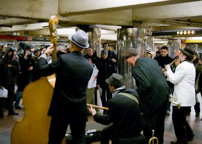 New York Greeting Card featuring the photograph New York City Subway by Patrick Flynn