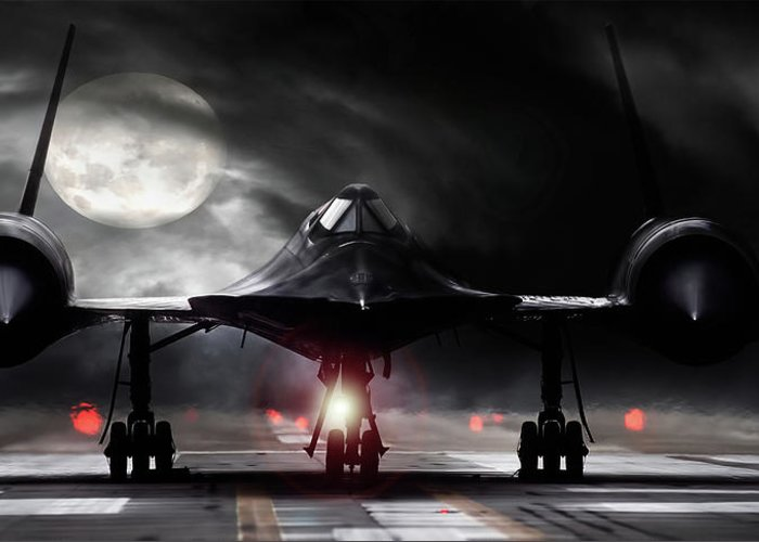 Sr-71 Blackbird Greeting Cards