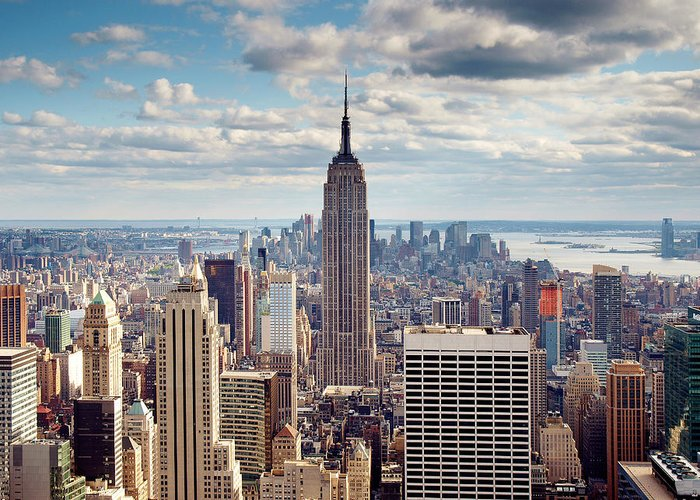 Ny Greeting Card featuring the photograph NYC Empire by Nina Papiorek