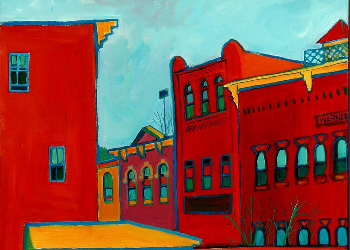 City Greeting Card featuring the painting Opera House by Debra Bretton Robinson