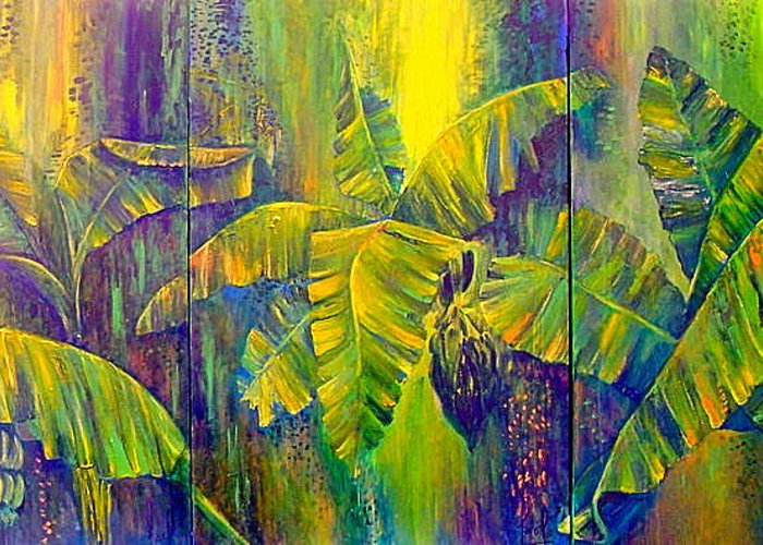 Nature Greeting Card featuring the painting Our Richness by Carol P Kingsley