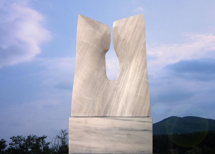 Association Greeting Card featuring the sculpture Overture by Ivan Markovic