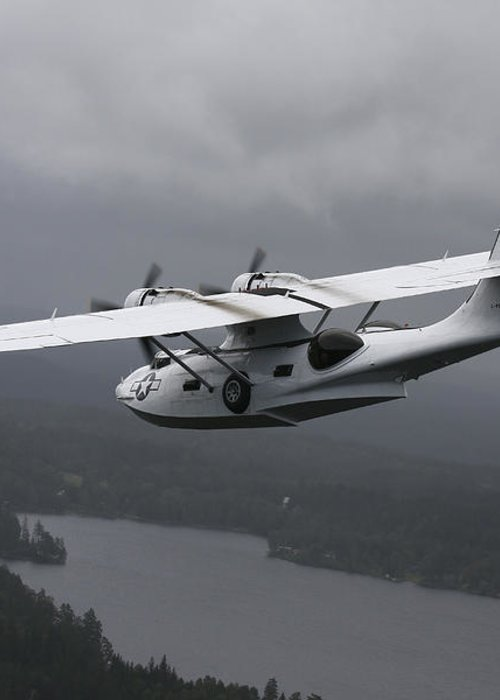 Transportation Greeting Card featuring the photograph Pby Catalina Vintage Flying Boat by Daniel Karlsson