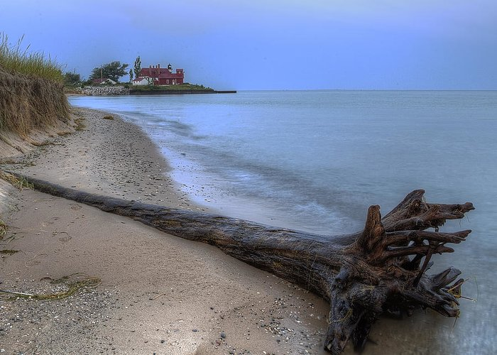 Point Greeting Card featuring the photograph Point Betsie by Twenty Two North Photography