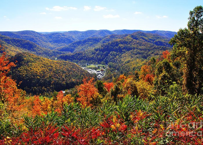 West Virginia Greeting Card featuring the photograph Point Mountain Overlook by Thomas R Fletcher