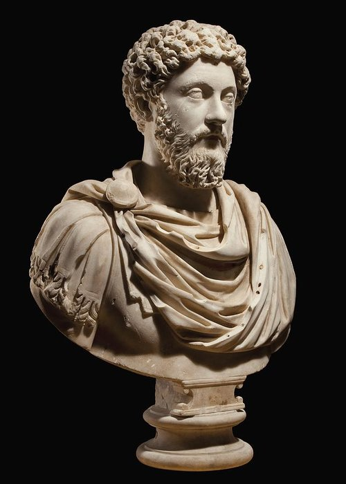 Portrait Bust Of Emperor Marcus Aurelius Greeting Card For Sale By