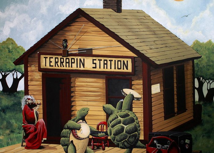 Recreation of terrapin station album cover by the grateful dead grateful dead greeting card featuring the painting recreation of terrapin station album cover by the grateful m4hsunfo Choice Image