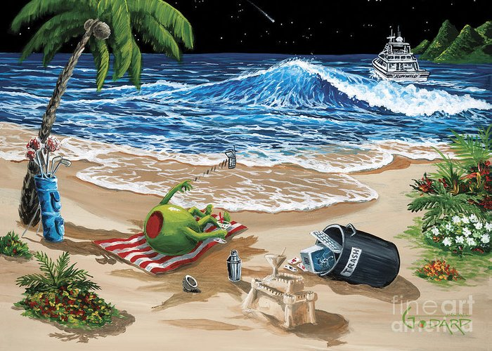 Sand Castles Paintings Greeting Cards