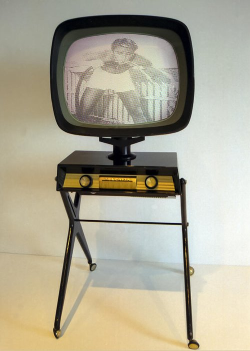 Retro Television Greeting Card featuring the photograph Retro Tv by Matthew Bamberg