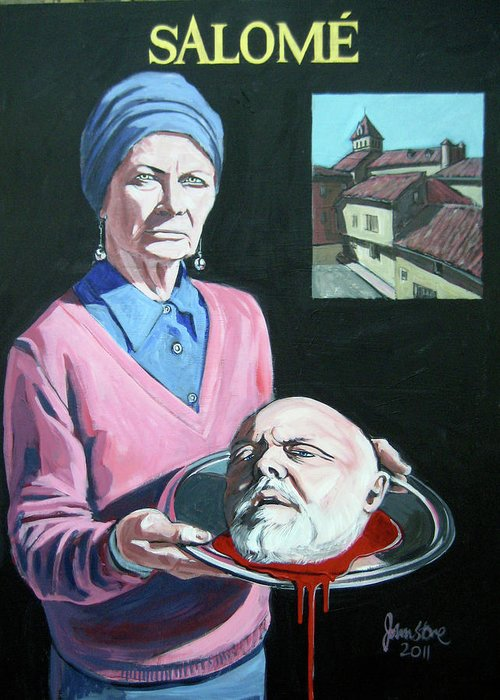 Salome Greeting Card featuring the painting Salome by Ray Johnstone