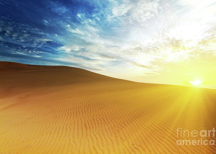 Sand Greeting Card featuring the photograph Sandy Desert by MotHaiBaPhoto Prints