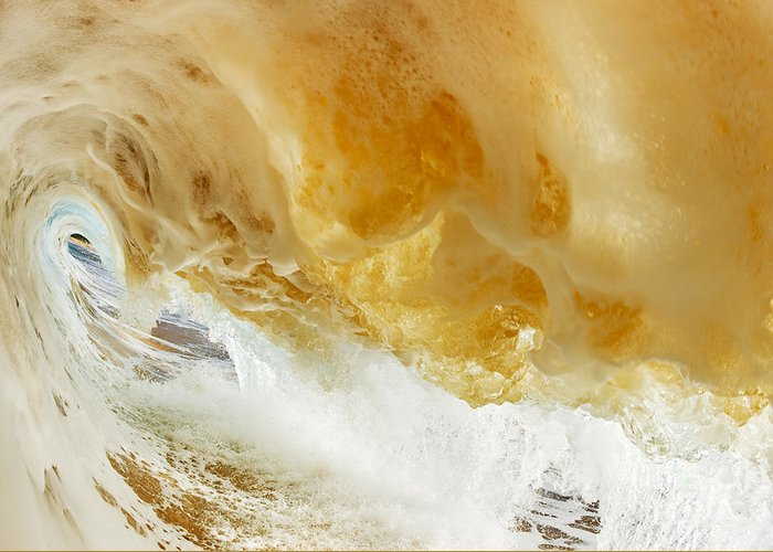 Amazing Greeting Card featuring the photograph Sandy Wave by MakenaStockMedia - Printscapes