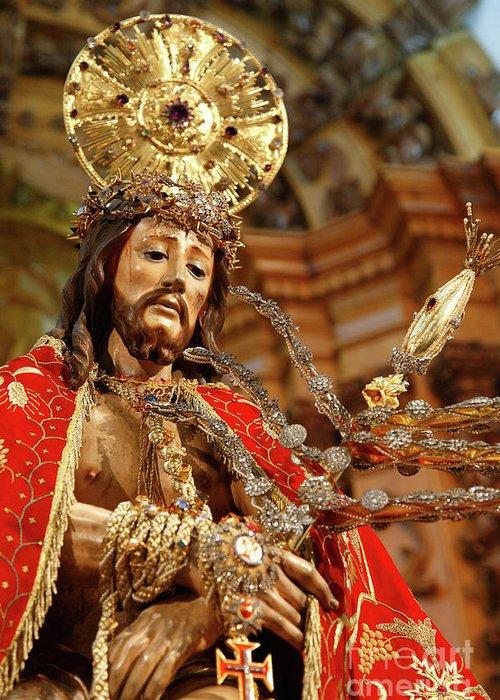Ecce Homo Greeting Card featuring the photograph Senhor Bom Jesus Da Pedra by Gaspar Avila