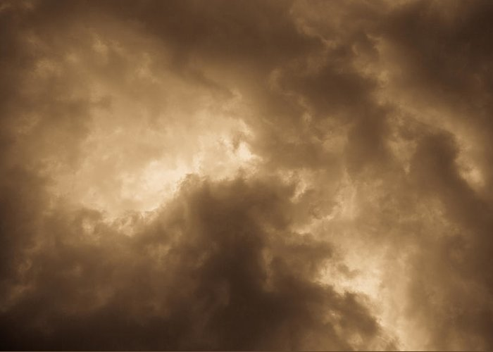Sepia Sepia Toned Greeting Card featuring the photograph Sepia Clouds by David Pyatt