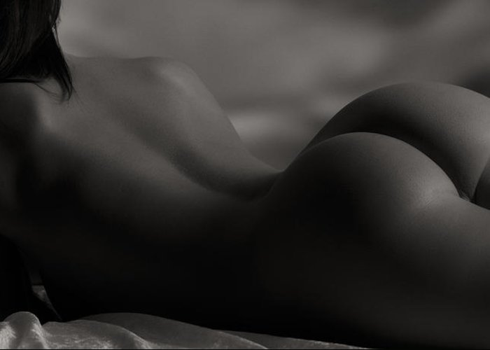 Nude Greeting Card featuring the photograph Solitude by Naman Imagery