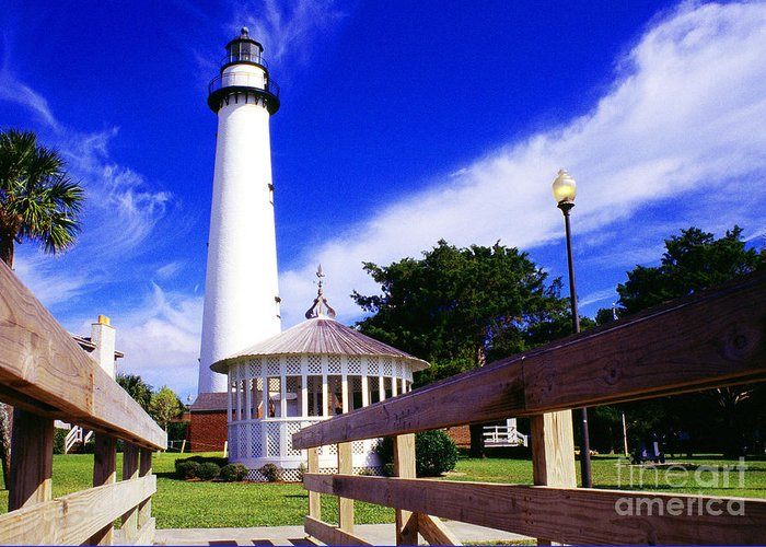 Georgia Greeting Card featuring the photograph St Simons Island Lighthouse by Thomas R Fletcher
