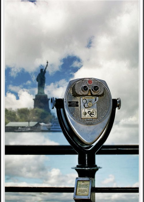 Flower Greeting Card featuring the photograph Statue Of Liberty by Geraldine Scull