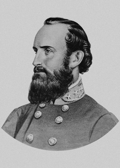 Stonewall Jackson Greeting Card featuring the painting Stonewall Jackson by War Is Hell Store
