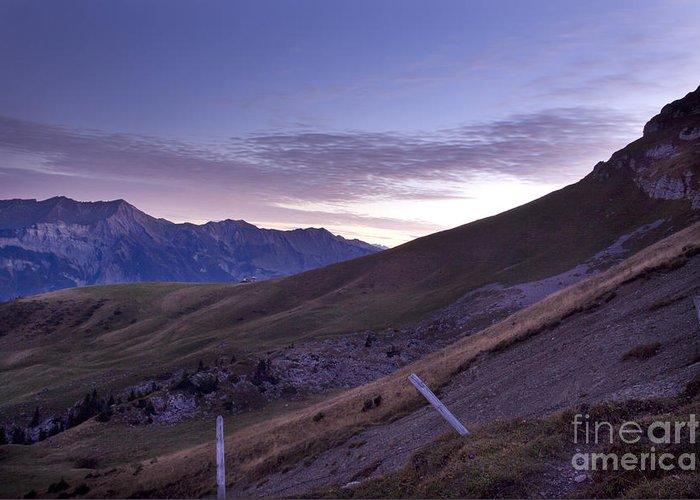 Greeting Card featuring the photograph Swiss Alps by Angel Ciesniarska