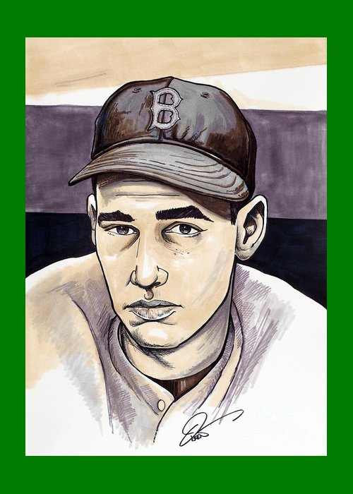Boston Sports Parks Drawings Greeting Cards