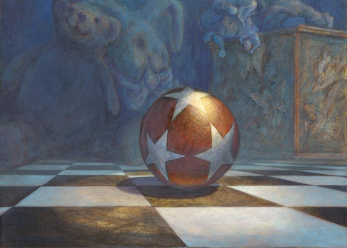 Leonard Filgate Greeting Card featuring the painting The Ball by Leonard Filgate