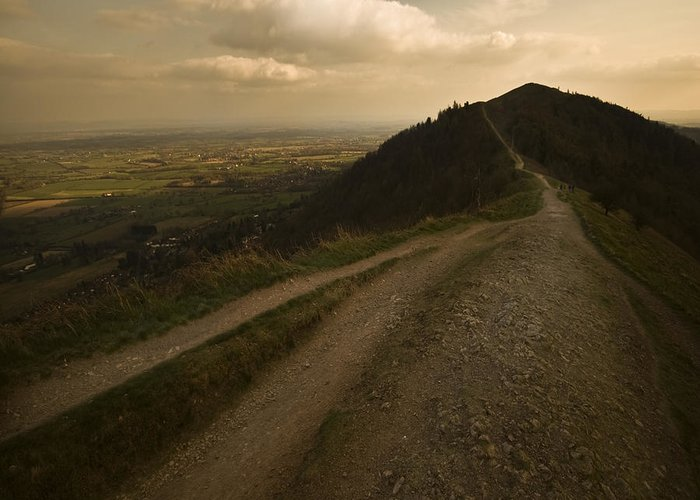 Malvern Hills Greeting Card featuring the photograph The Malvern Hills by Angel Ciesniarska