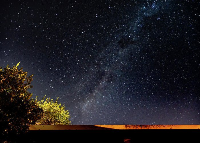 Astro Greeting Card featuring the photograph The Milky Way by Merrillie Redden