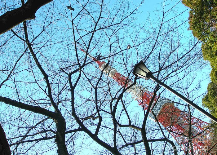 Tokyo Tower Greeting Card featuring the photograph Tokyo Tower by Marie Loh