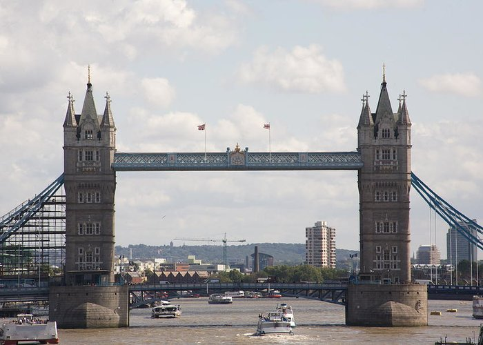 Tower Greeting Card featuring the photograph Tower Bridge. by Christopher Rowlands