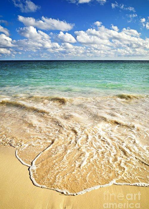 Beach Greeting Card featuring the photograph Tropical Beach by Elena Elisseeva