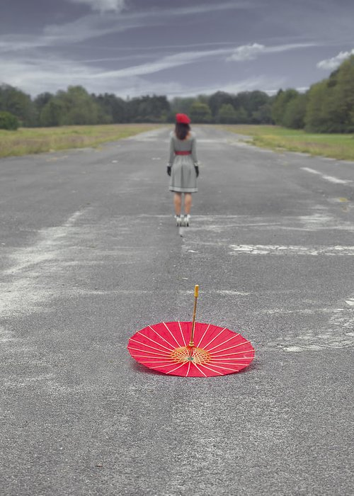 Woman Greeting Card featuring the photograph Umbrella by Joana Kruse