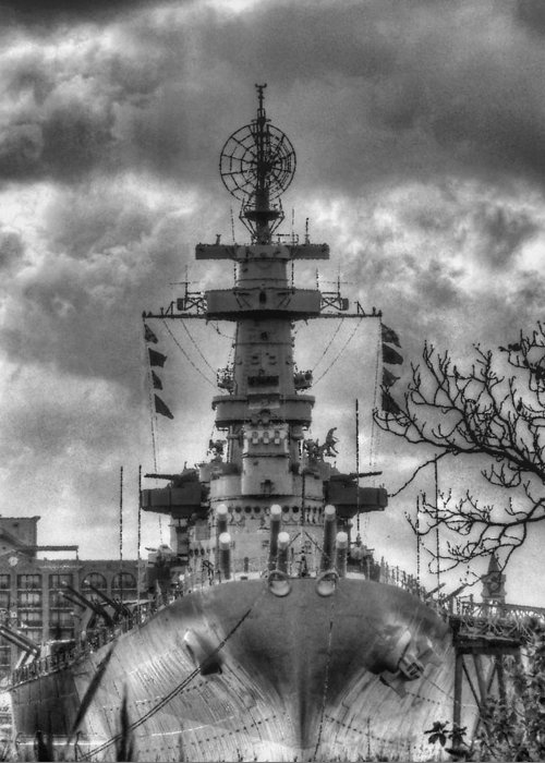 Wilmington North Carolina Greeting Card featuring the photograph U.s.s. North Carolina by JC Findley