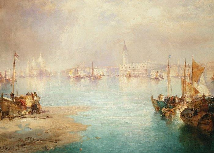 Thomas Moran Greeting Card featuring the painting Venice by Thomas Moran
