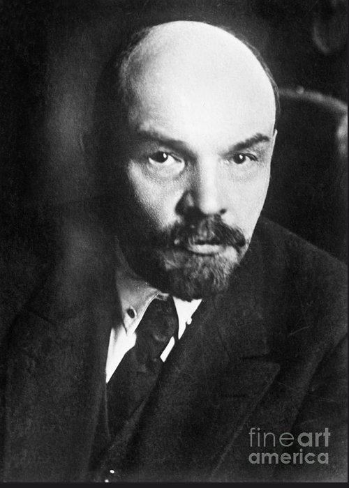 1919 Greeting Card featuring the photograph Vladimir Lenin (1870-1924) by Granger