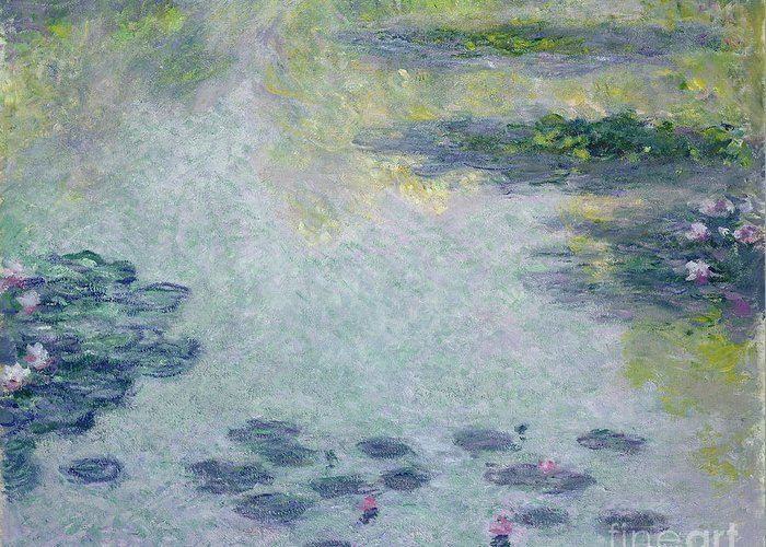 Waterlilies Greeting Card featuring the painting Waterlilies by Claude Monet