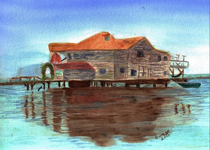 Water Greeting Card featuring the painting West End Roatan by Donna Walsh